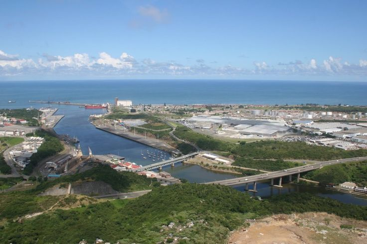 Buffalo River and Harbour in East London, South Africa