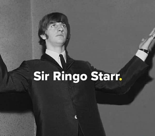 it's official ! Arose , Sir Richard Starkey of Liverpool  To Sir, with Love ❤️ ( Like Stella said... It's about f..king time )