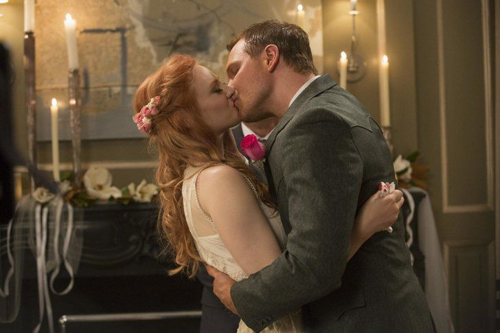 Pin for Later: The Ultimate Movie and TV Weddings Gallery True Blood Jessica (Deborah Ann Woll) and Hoyt (Jim Parrack) reconnect and marry soon after, so Jessica can have Bill give her away before he dies.