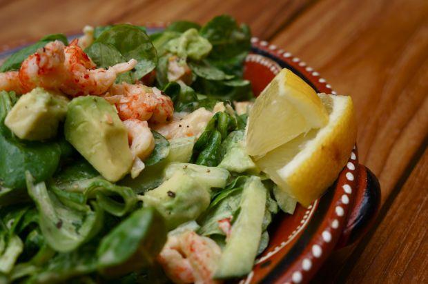 Recept; Salade met rivierkreeftjes en avocado - KittehsCupcakes.nl