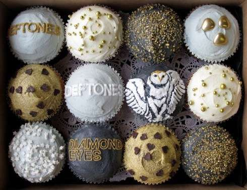 When I first saw this pic i thought it was for the labrynth!   Music-Inspired Desserts - The Deftones Cupcakes by Crumbs and Doilies Make the Tough Sweet (GALLERY)