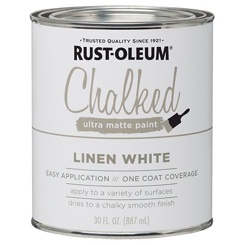 Rustoleum Chalked Paint, Linen White -- Half the Price of Annie Sloan Chalk Paint and PERFECT coverage!