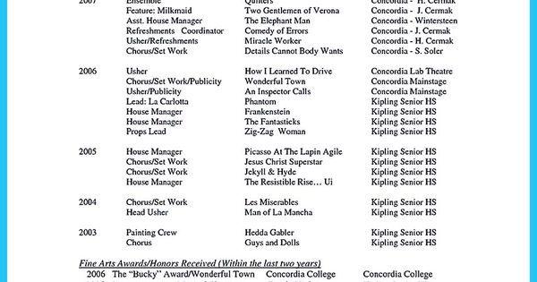 contoh surat lamaran kerja umum, contoh surat lamaran kerja di - theatrical director resume