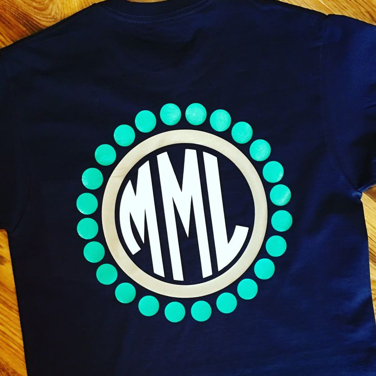 Monogram Pocket Tee Circular Monogram Tee by KMFCustomDesigns on Etsy