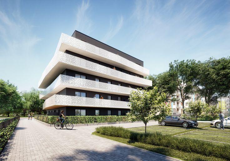 Inwestor: Ingenium Dobre Domy sp. z o.o. Projektant: Neostudio Wizualizacja: Mimo Studio Lokalizacja: Poznań, ul. Dymka