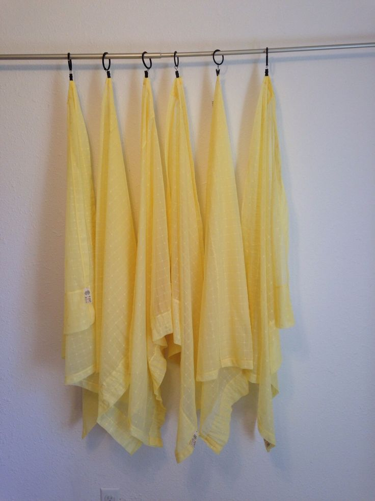 Vintage Yellow Curtains, 6 Piece Set of Short, Sheer Yellow Curtains, Sheer Curt…  – DIY