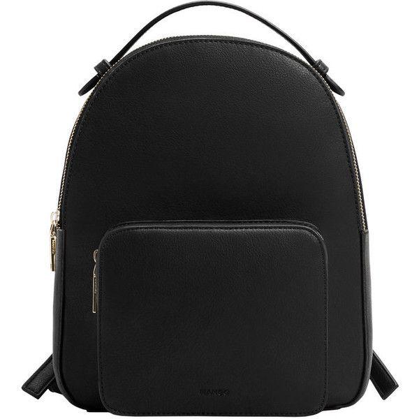MANGO Zip Pebbled Backpack ($50) ❤ liked on Polyvore featuring bags, backpacks, accessories, bolsas, bolsos, zip bag, backpack bags, zipper backpack, rucksack bags and daypack bag