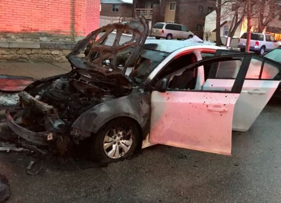 Police are investigating an early morning fire to two vehicles. The two cars caught fire early Thursday morning. They were parked on Bedford Street. The road is closed from Doty to Main.