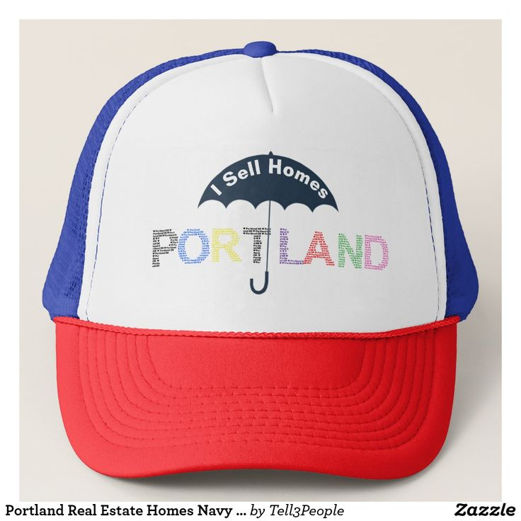 Portland Real Estate Homes Navy Baseball Cap Hat