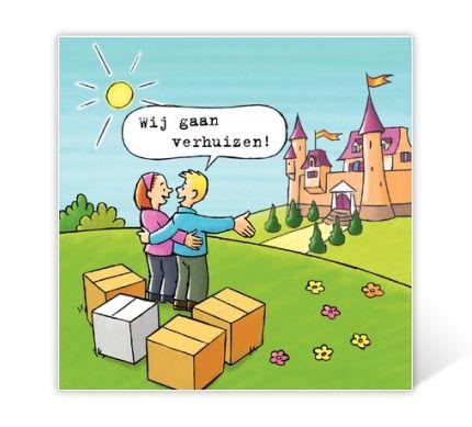 Verhuisbericht cartoon