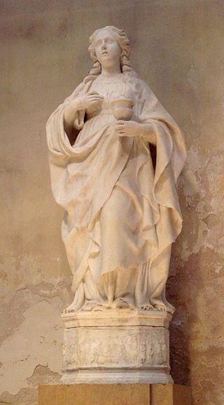 Santa Lucia statua marmorea  Cattedrale metropolitana della Natività di Maria Santissima -Siracusa