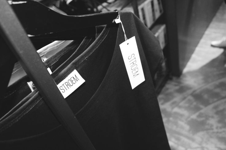 STROEM clothing designed by Simon Stroem. Tees showing off in Danish shop. #fashion #tees
