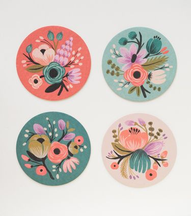 Botanical Coaster Set from Rifle Paper Co. I could pin just about everything on their website