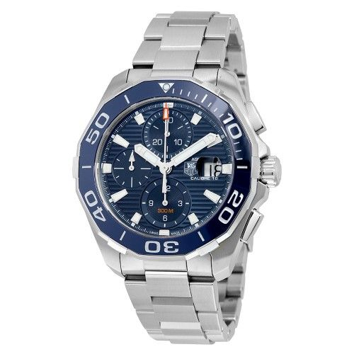 Tag Heuer Aquaracer Chronograph Automatic Men's Watch CAY211B.BA0927, Size: 43mm, Blue