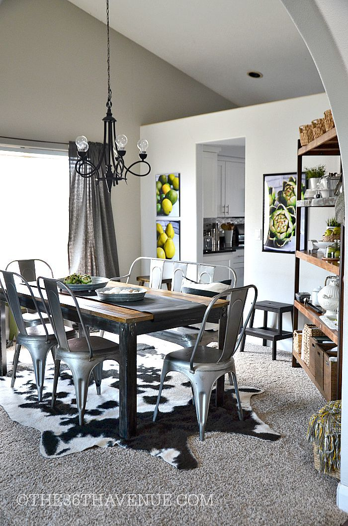 Industrial Home Decor Living Room: 206 Best Dining Room Images On Pinterest
