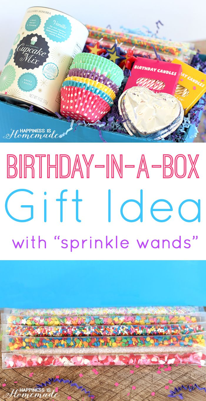 Cupcake Birthday In A Box Gift Idea