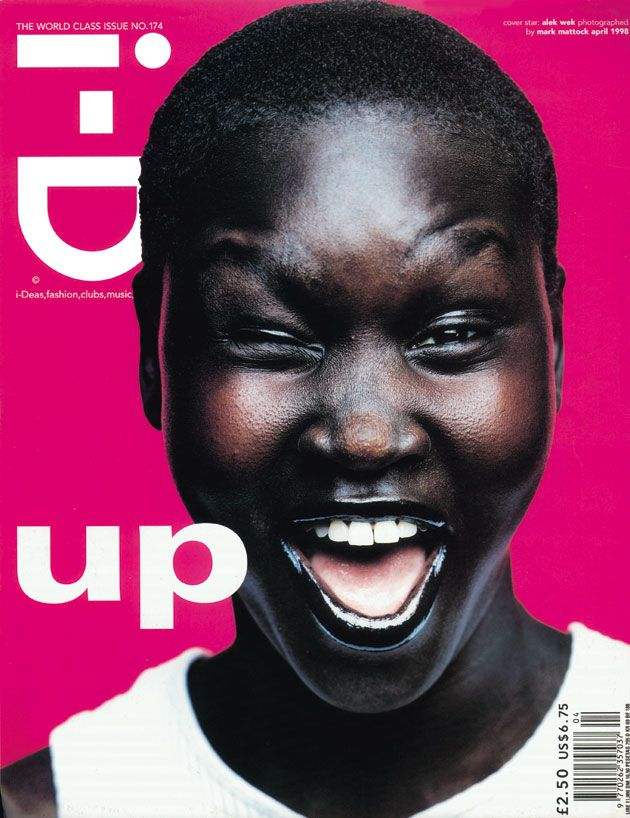 Alek Wek for i-D Magazine 1998