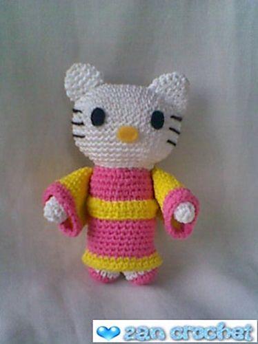 Hello Kitty Kimono Amigurumi Patron : 17 Best images about Amigurumi munecas on Pinterest Free ...