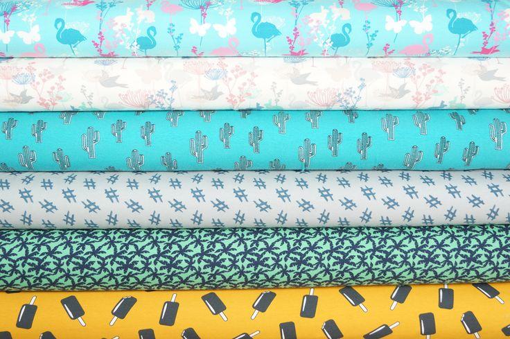 Tricot stoffen met zomerse prints van Megan Blue Fabrics!
