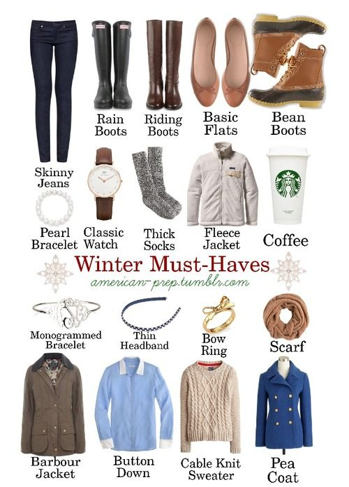 basics for Preppy Winter wardrobe. I think it was the coffee that won me over!