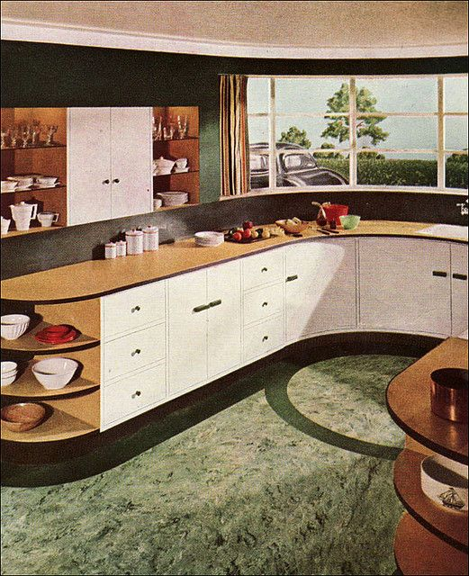 Art Deco Kitchen Renovation: 17 Best Images About Retro Kitchens/Dining Rooms On