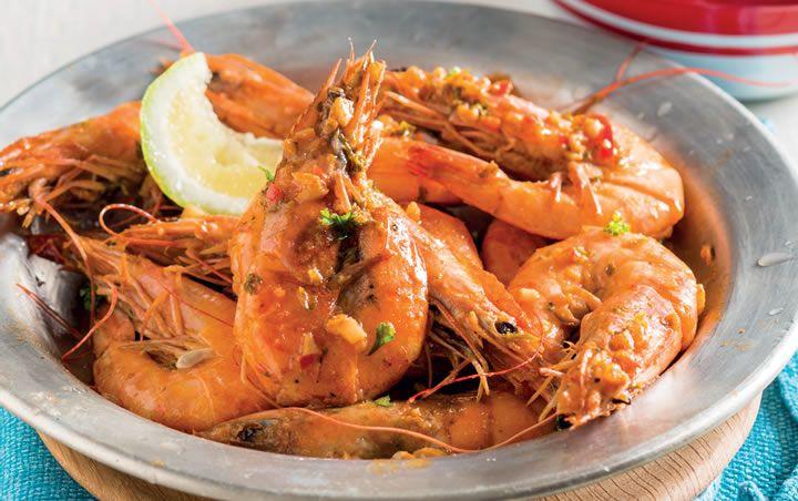 Portuguese prawns - Yummy!