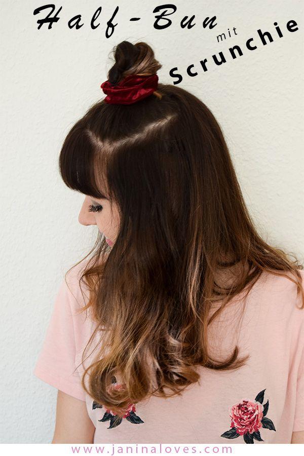 Scrunchie Haargummi 5 Arten Den Trend Der 90er Zu Stylen Tolle Haare Scrunchie Frisuren Lange Haare Mit Pony