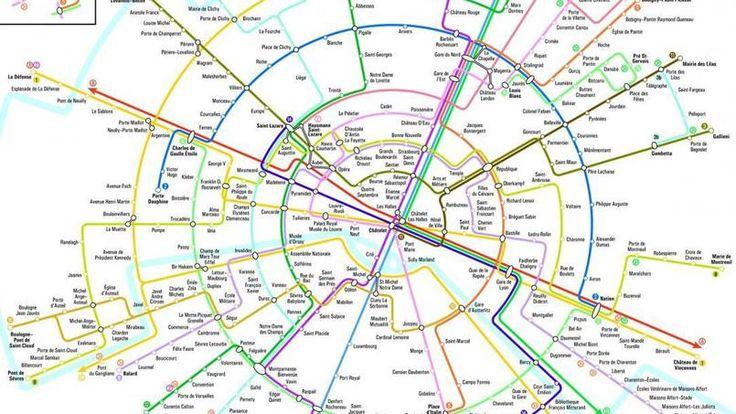 Le plan du métro parisien, en forme de cercle, élaboré par le chercheur Max Roberts.