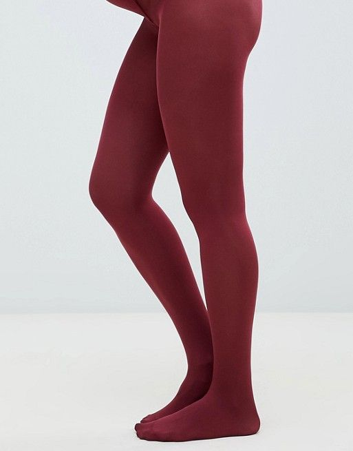 652a675d4 DESIGN Maternity 80 denier tights in burgundy