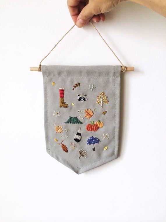 Hand embroidered autumn/fall season theme by BaobapHandmade