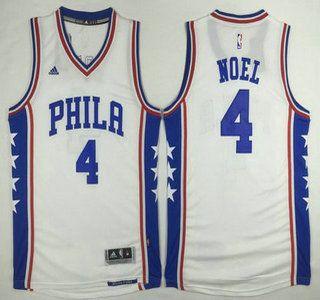 Philadelphia 76ers Jersey 4 Nerlens Noel Revolution 30 Swingman 2014 New White Jerseys