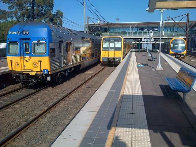 V-Set - Tangara(ex G-Set) and H-Set(Oscar) @ Penrith  Photo by David Dezenieks  #cityrail #railcorp #trains #australia #sydney