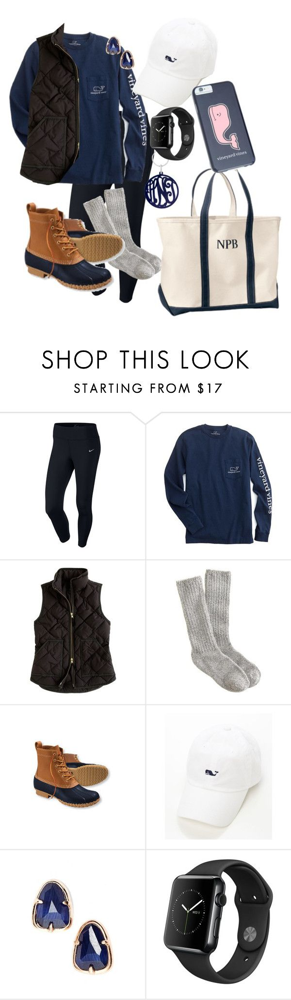 Untitled #55 by colleen-alexandra ❤ liked on Polyvore featuring NIKE, J.Crew, L.L.Bean and Kendra Scott
