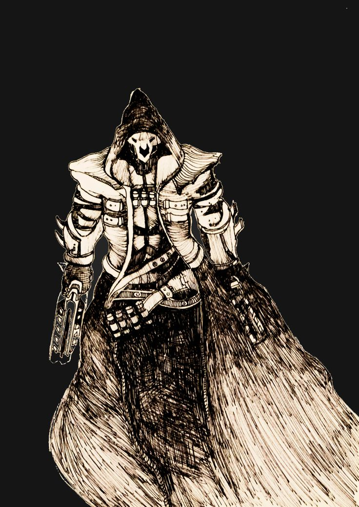 #overwatch #reaper #overwatchanniversary #blizzard #blackandwhite #hero #dps #game