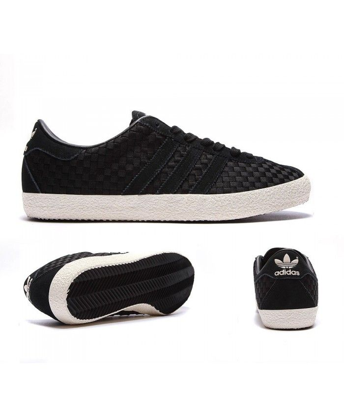 Adidas Originals Gazelle '70s Trainers in Black White Casual Shoes