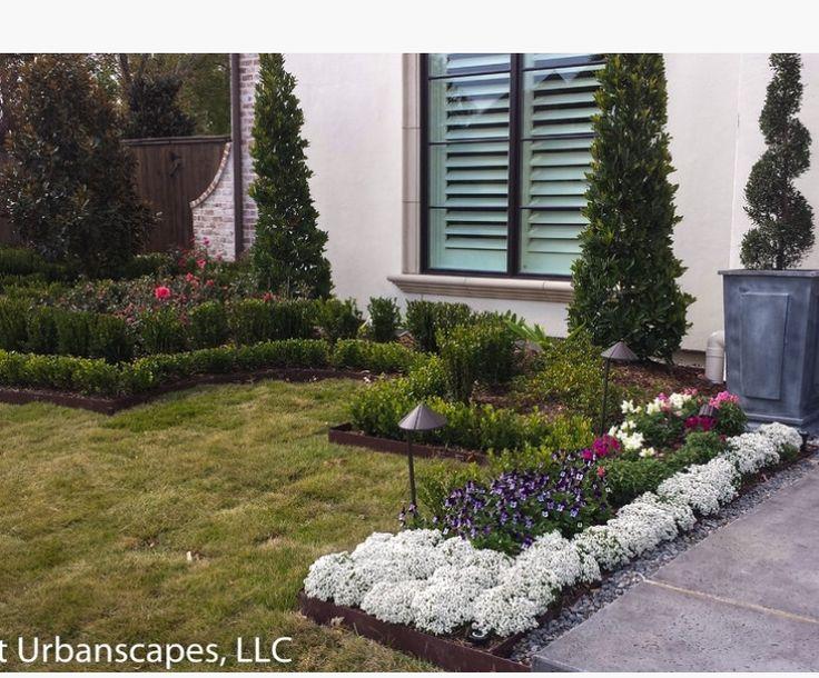 Land Scape Front Yard Flower Beds