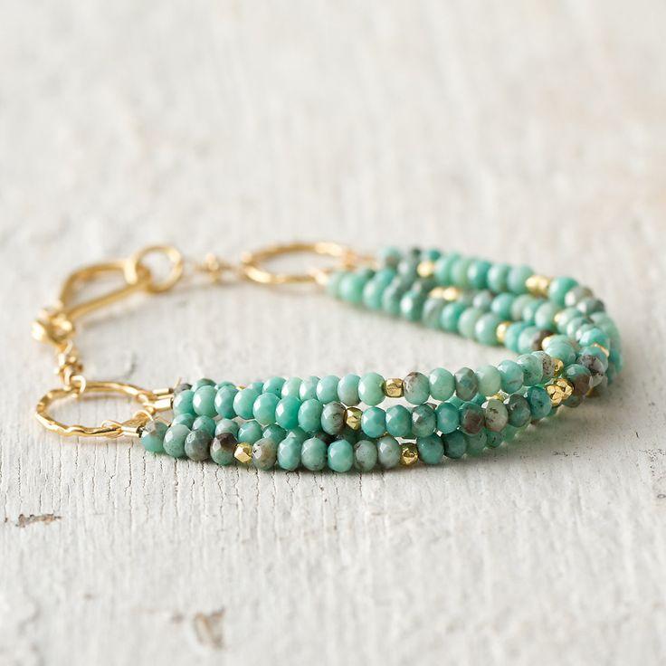 Terrain Turquoise Layers Bracelet #shopterrain $198