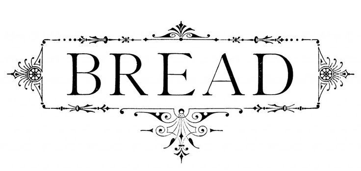 """Frame with """"BREAD"""" typography"""