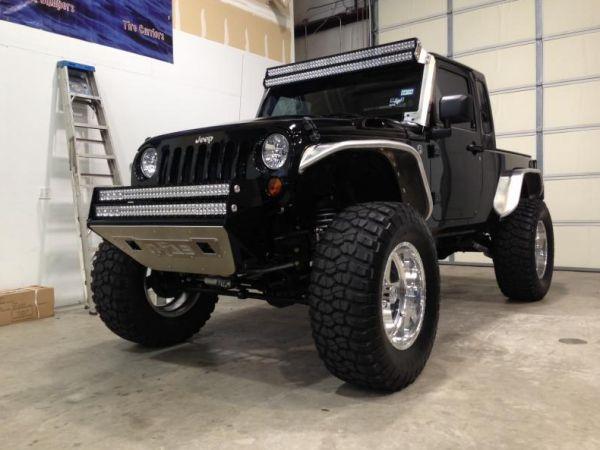 "N Fab - N-Fab J072LRSP RSP Front Bumper Jeep JK 2007-2015 for 2 - 38"" Rigid LED Light Bars"