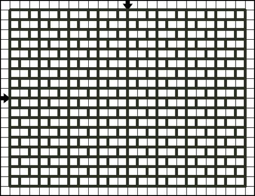 Free Simple Back Stitch Patterns - Suitable for Back Stitch or Cross Stitch: Free Another Brick in the Wall Back Stitch Pattern - Free Printable Chart