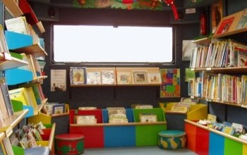 Inside the School Mobile Library+more