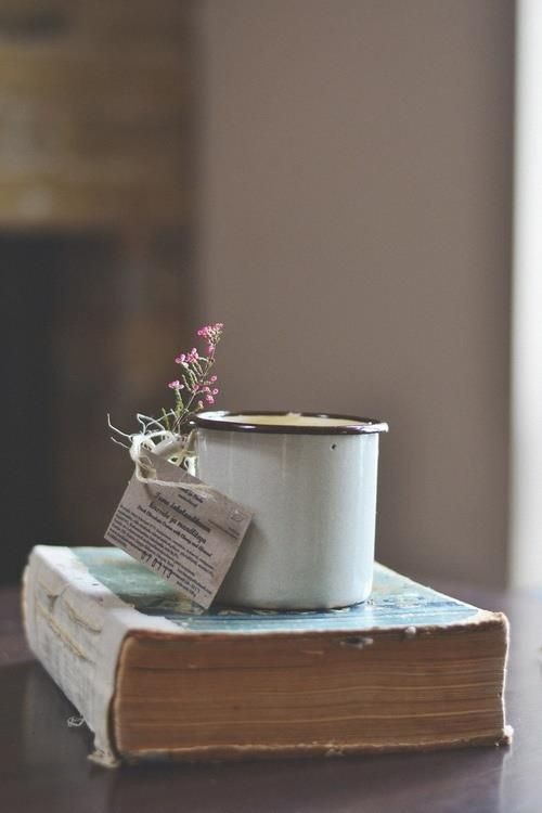 Contentedness is a cup of hot tea, a good book, a journal & a quiet day.