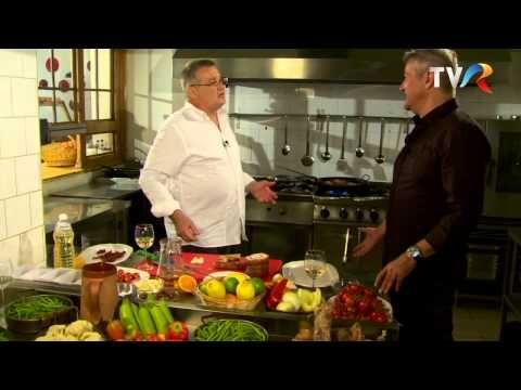 Reţeta lu' Dinescu: iepure împănat cu usturoi şi slăninuţă gătit la cuptor - YouTube