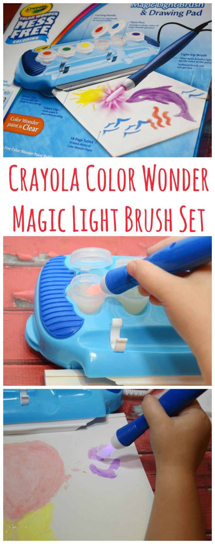 crayola color wonder magic light brush instructions