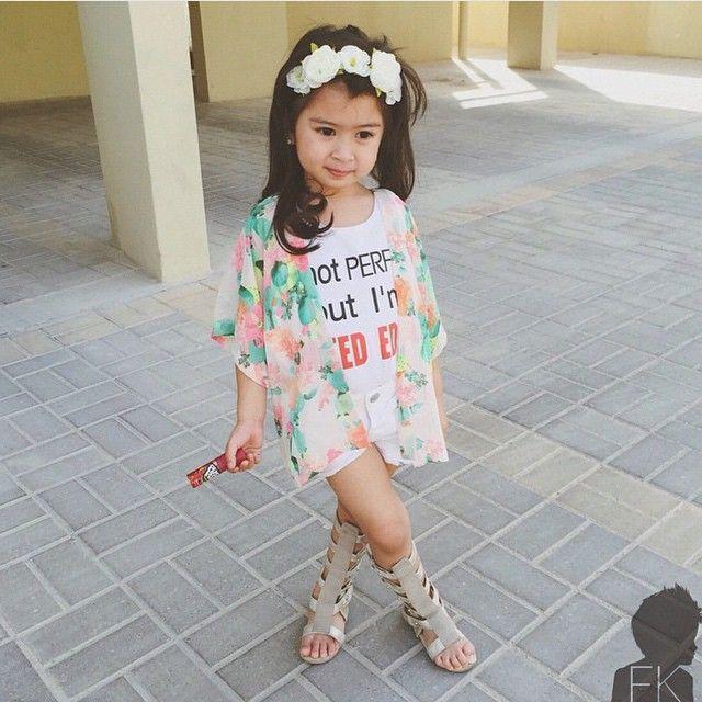 Meninas estilosas do Instagram Looks fofos Infantil ...