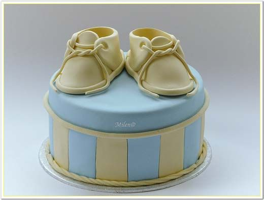 Baby Booties Cake