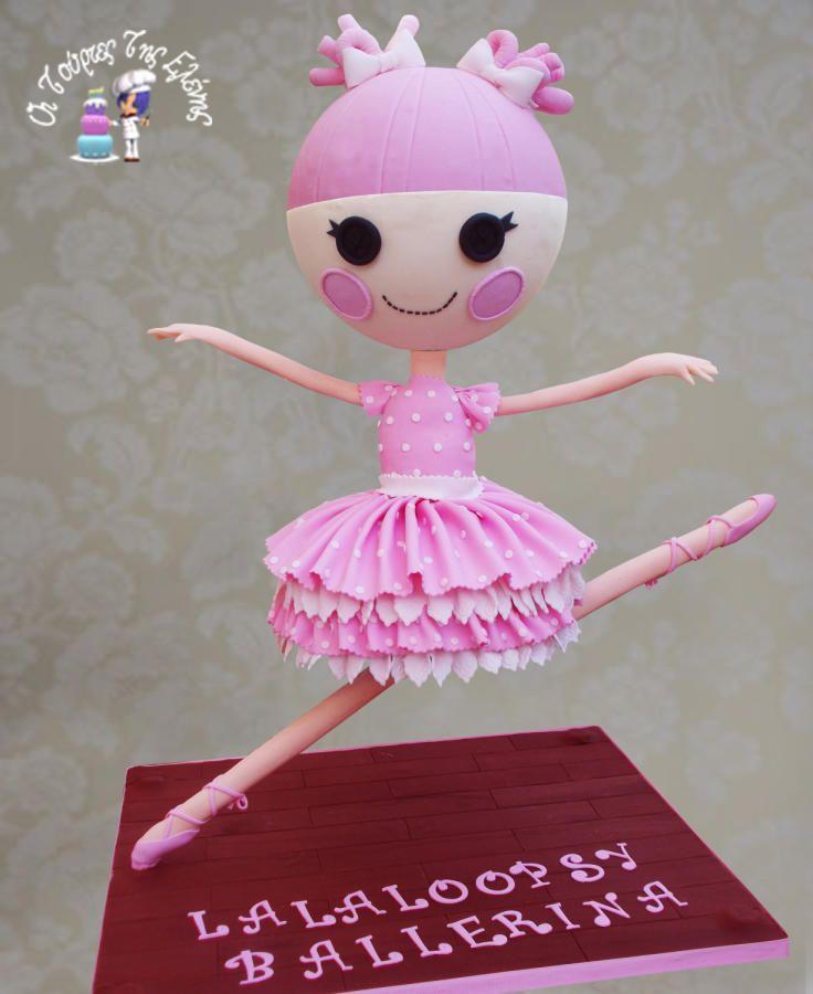 Lalaloopsy ballerina cake by moustoula eleni for Ballerina cake decoration