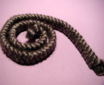 Medium Gray Braided Mohair .  http://barbspencerdolls.com