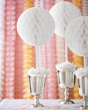 Create this simple centerpiece by attaching a painted dowel rod -- 3/8-inch