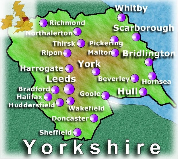 I'm very happy I was born in Yorkshire, UK